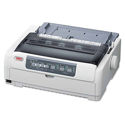 OKI 62433801 Microline 620 9-Pin Narrow Carriage Dot Matrix Printer (Renewed)