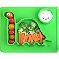 Lilly's Love Silicone Placemat Toddler Plates (Green)