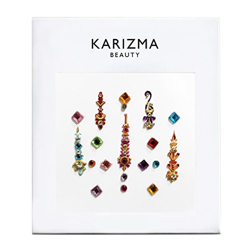 - Rainbow Coloured Bindi ✮ Karizma Beauty ✮ Jewels Crystals Face Body Bindi