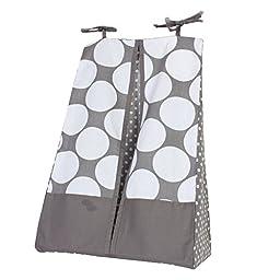Bacati Mix and Match Dots Diaper Stacker, Grey