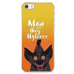 Loud Universe Jackals Ugly Lion King iPhone SE Case Classic Lion King iPhone SE Cover with Transparent Edges