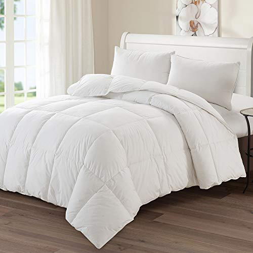 C & S Luxury Goose Down Medium Warmth Comforter, Queen