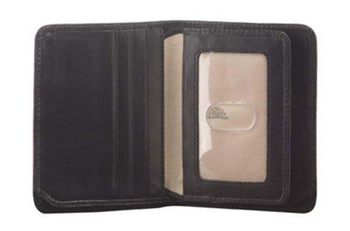 Fold Vertical Bi - Mens Vertical Bifold ID Wallet Front Pocket Minimalist Card Case Italian Leather
