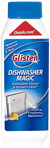 Glisten DM06N Dishwasher Magic Cleaner and Disinfectant-12 Ounces-EPA Registered Cleanser Eliminates 99.9% of E-coli and Salmonella