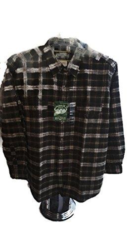 Field & Stream Men's Button-Down Plaid Flannel Shirt Olive-green XXL
