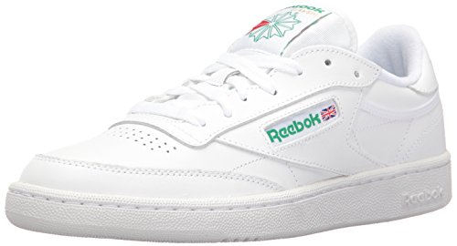 Reebok Men's Club C 85 Fashion Sneaker, White/Green, 11 M US from Reebok
