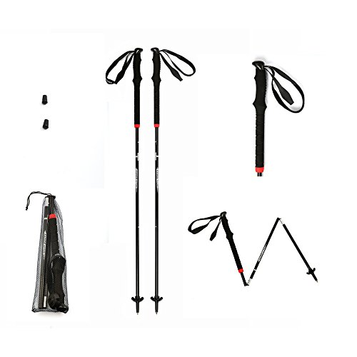 Trekking Poles Hiking Trekking Poles Ulrtlight Folding Antishock Aluminum Walking Trek Poles 1 Pair