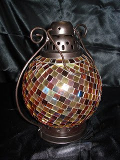 Retired Partylite Global Fusion Lantern Candle Holder (P9238)