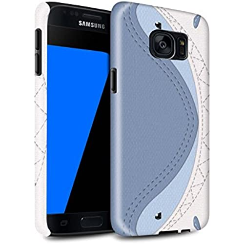 STUFF4 Gloss Tough Shock Proof Phone Case for Samsung Galaxy S7/G930 / Shark Design / Animal Stitch Effect Collection Sales