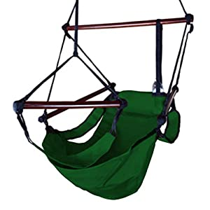 New Green Air Hammock Swing Chair Patio Tree Hanging Zero Gravity Sky Outdoor Lounge #460
