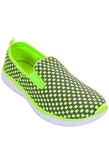 Saphir Boutique Damen Gepolstert Netz Neon Schnürer Turnschuhe Sneakers Sport Schuhe - Marine/Rosa, 6 UK Sapphire Boutique by Sapphire