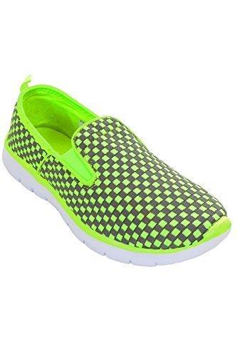 Sapphire TIENDA Mujer Sin Cordones Zapatillas de cuadros Zapatillas de piel Plano Zapatillas de Deporte Zapatos Cómodos: Amazon.es: Zapatos y complementos
