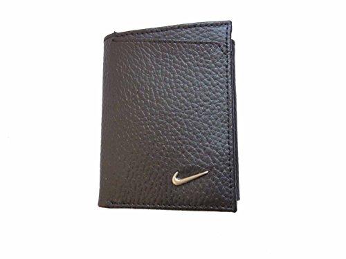 Golf Slim Wallet - Mens Nike Black Trifold Pebbled Leather Wallet