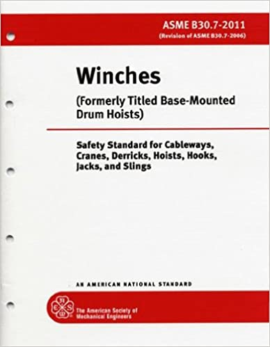 Book Winches (Formerly Titled: Base-Mounted Drum Hoists) (Safety Standard for Cableways, Cranes, Derricks, Hoists, Hooks, Jacks, and Slings, ASME B30.7-2011)