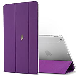 Poetic Slimline New iPad 9.7 Inch 2017 Case Slim-Fit Trifold Cover Stand Folio Case for Apple iPad 9.7 (2017 MARCH Released) Purple