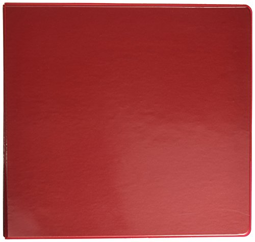 Samsill Economy 3 Ring View Binder, 4 Inch Round Ring Holds 700 Sheets, Customizable Clear View Cover, Red (18593)