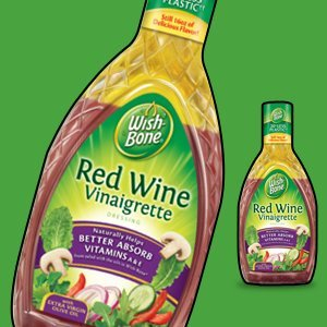 Wish-Bone, Salad Dressing, Red Wine Vinaigrette, 15 Ounce Bottle (Pack of 3)