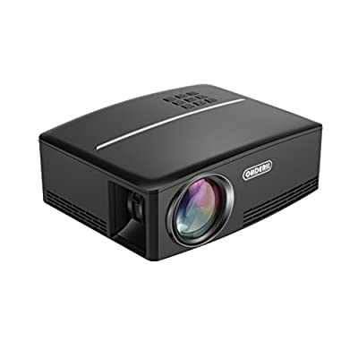 """ohderii Projector 1800 Lumens 180"""" LED Mini Home Projector for Outdoor Indoor Movie, Home Theater HDMI VGA USB Support Blu-ray DVD Player, Laptops,Tablets, Smartphones and HD Games"""