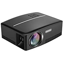 """Projector, ohderii 180"""" LED Mini Home Projector for Outdoor Indoor Movie, Home Theater HDMI VGA USB Support Blu-ray DVD Player, Laptops,Tablets and HD Games (Black)"""