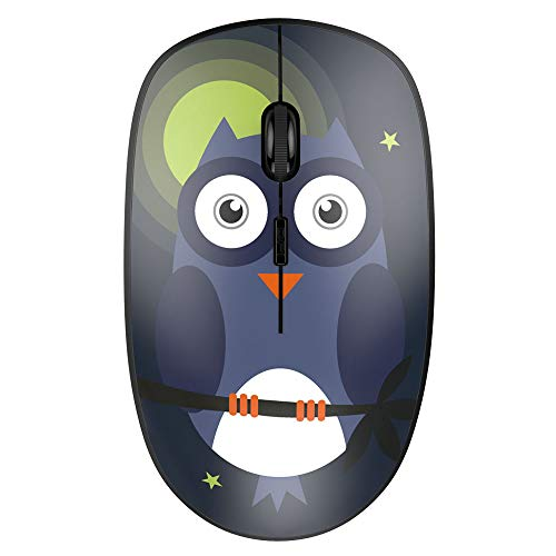 Nulaxy 2.4G Ergonomic Wireless Mouse, Portable Mobile Computer Mouse Optical Mice with USB Receiver, 3 Adjustable DPI Levels, Compatible with Notebook, PC, Laptop, Computer, MacBook - Owl