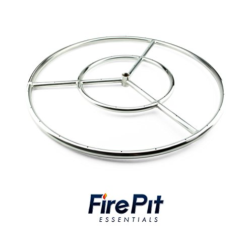 Diameter Stainless Steel Fire Ring (Round Fire Pit Burner Ring by Fire Pit Essentials (Stainless Steel, 18 inch))