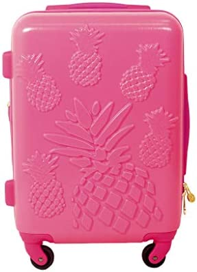 Macbeth Collection Women s Pineapple 21 Spinner Luggage, Magenta, One Size