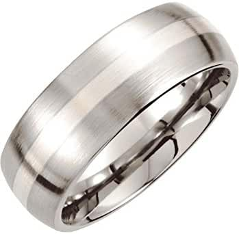 Cobalt/Continuum Sterling Silver 8mm Domed Band 10.00