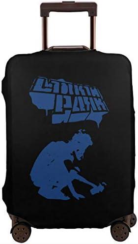 スーツケースカバー キャリーカバー リンキンパーク ラゲッジカバー トランクカバー 伸縮素材 かわいい 洗える トラベルダストカバー 荷物カバー 保護カバー 旅行 おしゃれ S M L XL 傷防止 防塵カバー 1枚
