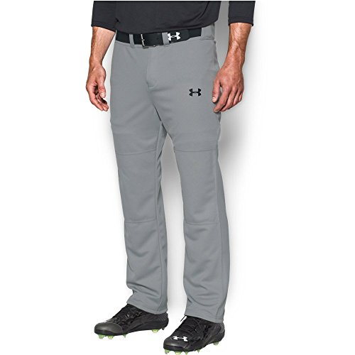Under Armour Men's Clean Up Baseball Pants, Baseball Gray/Black, Large