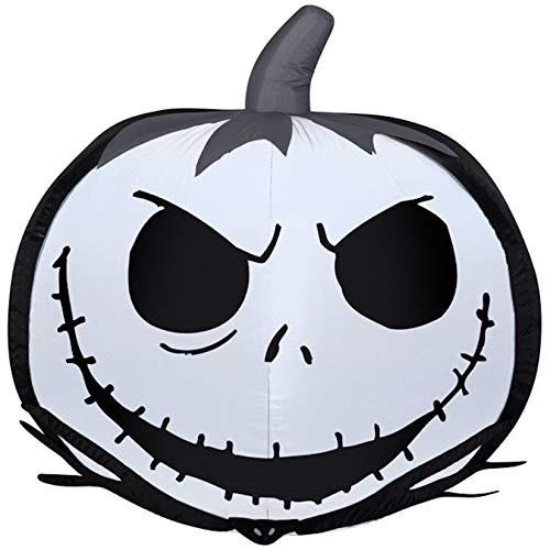 Disney's Tim Burton's The Nightmare Before Christmas 25 years Jack Skellington Pumpkin Airblown Inflatable]()