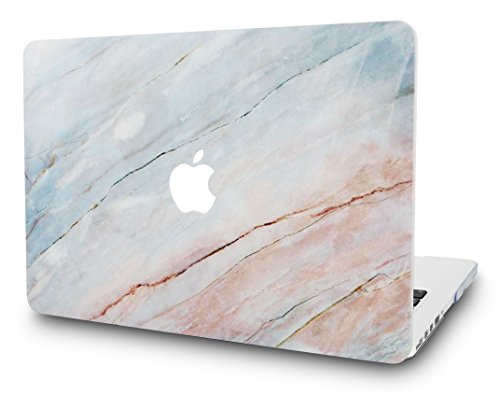 KEC Laptop Case for MacBook Pro 13 (2018/2017/2016) Plastic Hard Shell Cover A1989/A1706/A1708 Touch Bar (Granite Marble)