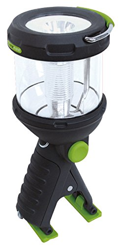 Four Green Lantern - Blackfire BBM910 Clamp Light 230-Lumen 3AA LED 4-mode Dual Flashlight / Lantern, Black/Green