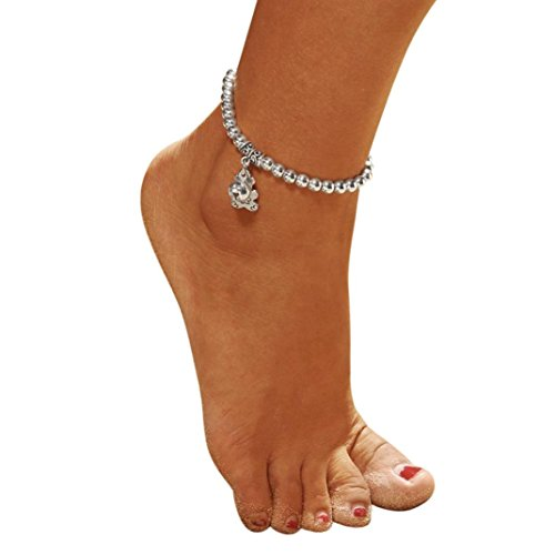 (SUJING Women Boho Foot Gothic Bohemian Foot Chains Jewelry Anklets Ankle Bracelets Beach Barefoot Jewelry (C))