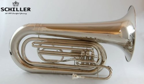 Schiller Field Series Professional BBb Marching Tuba - Nickel