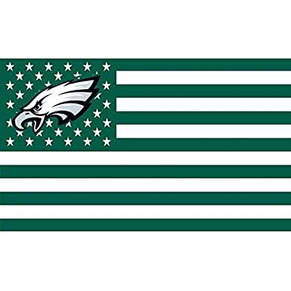 73470ff72 Amazon.com : NFL Philadelphia Eagles Stars and Stripes Flag Banner 3X5 FT  USA Flag, White : Sports & Outdoors