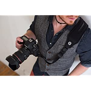 Custom SLR Glide One Strap Camera Strap System with Black C-Loop - Gliding Camera Strap with Quick-Release Buckles for DSLR, mirrorless, micro four thirds cameras