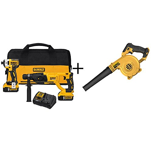 20-Volt MAX Lithium-Ion Cordless Combo Kit (2-Tool) with Bonus 20-Volt MAX Lithium-Ion Cordless Blower (Tool-Only)