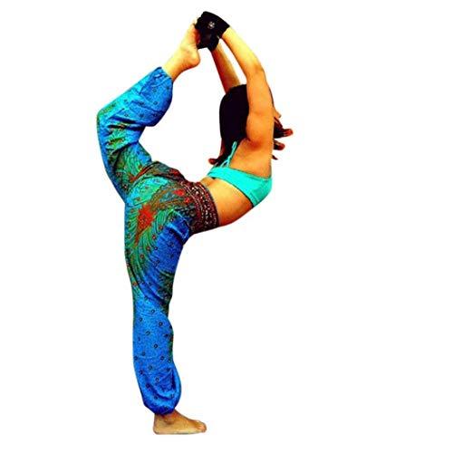 Thaïlandais Hommes Femmes Imprimés De Lanterne Taille Paon Sarem Multicolores Fuxitoggo Mode Yoga Lâches Pantalons Hauts qw4fYFF