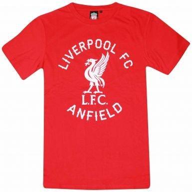 サッカープレミアリーグリバプールFC Crest ( ) Tシャツ B01MTOXEX1Small