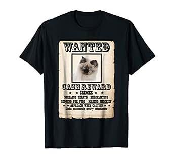 Amazon.com: Ragdoll - Camiseta de gato con póster: Clothing