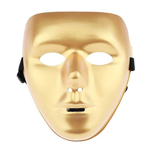 Halloween Mask Jabbawockeez Masquerade Costumes Party Mask for Halloween Party Supply - Golden -