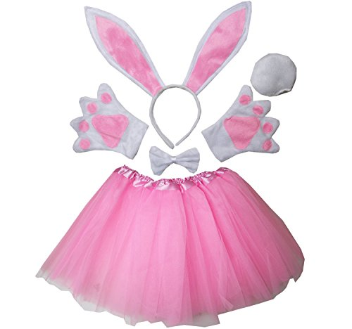 Bunny Costumes Child (Kirei Sui Kids Easter Bunny Costume Tutu Set Pink)