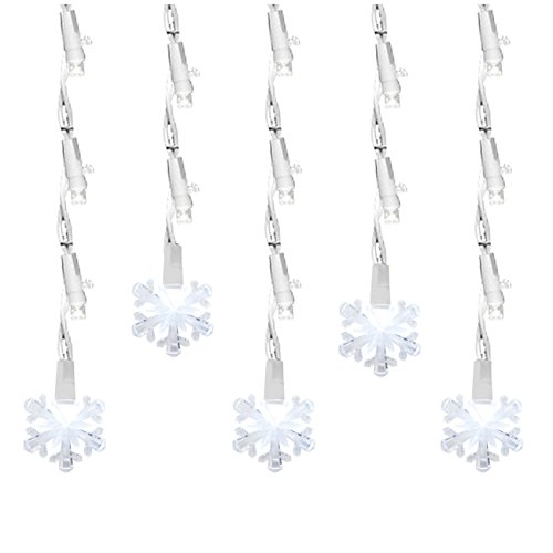 Led Snowflake Icicle String Lights in Florida - 7