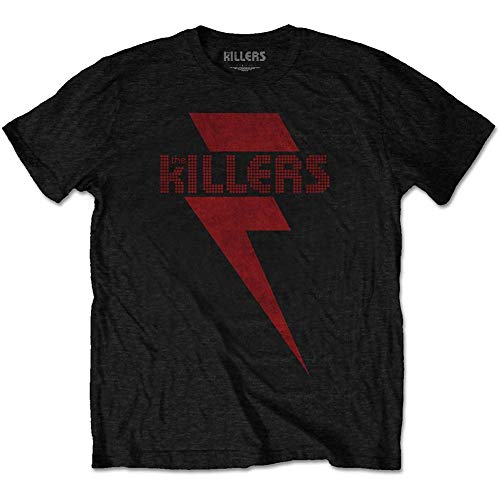 The Killers T Shirt Red Bolt Band Logo Official Mens Black Size M (The Killers Don T Look Back In Anger)