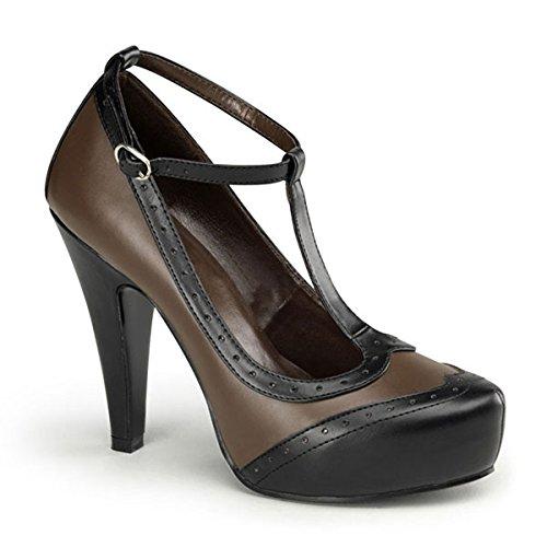 Heels mujer cuero multicolor de para vestir multicolor multicolor Zapatos Perfect marrón de pn6pqH4U