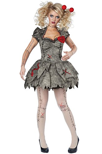 California Costumes Women's Voodoo Dolly Costume, Tan, X-Large (Doll Halloween Costume)