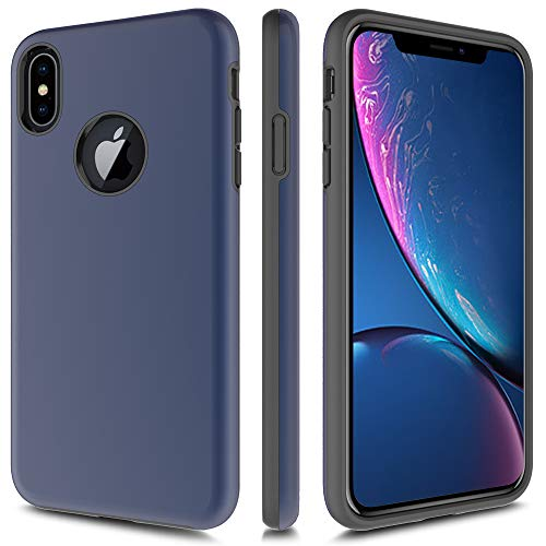Case for iPhone XS Max, DAILYCOMB Hybrid Hard PC + Soft TPU [Drop Protection] [Shockproof Protection] Phone Case Cover for Apple iPhone XS Max 6.5 inch (Blue)