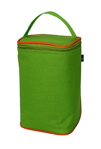 JL Childress JLC-0407GO - Bolsa para dos biberones, verde y naranja