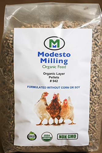 Modesto Milling Organic, Non-GMO Layer Pellets for Chickens, Formulated Without Corn or Soy, 10lbs; Item# 942 ()