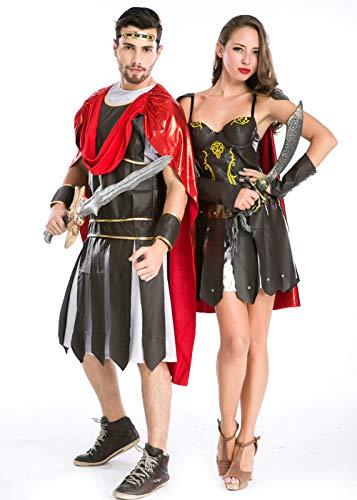 Couples Halloween Cosplay Costume,Greek Warrior National Couples Costume (Men)